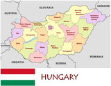 Hungary Europe emblem map symbol administrative divisions