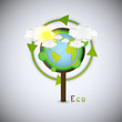 Earth in tree, ecology background