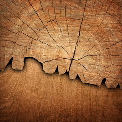 cracked wood board