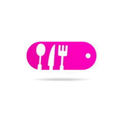 kitchen set sign icon