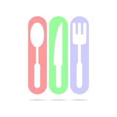 kitchen web set sign icon