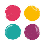 Grunge color circles