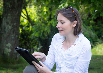 tablette en extérieur