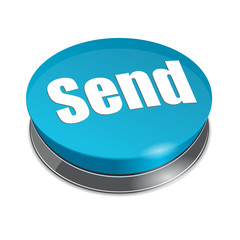 "3d blue button ""SEND"""