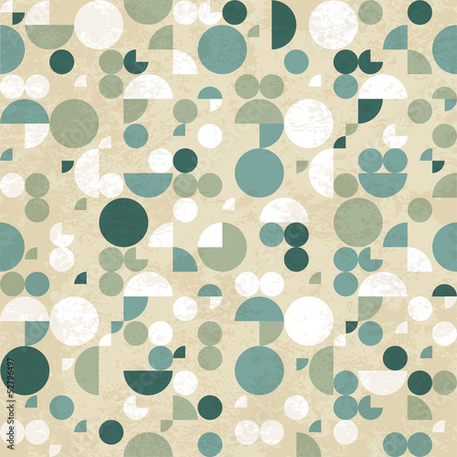 Abstract geometric retro pattern © magnia