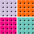 Backgrounds of squares and triangles