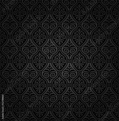 Seamless damask wallaper