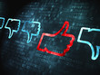 Social network concept: Like, Unlike on digital background