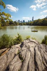 NYC Central Park lake portrait