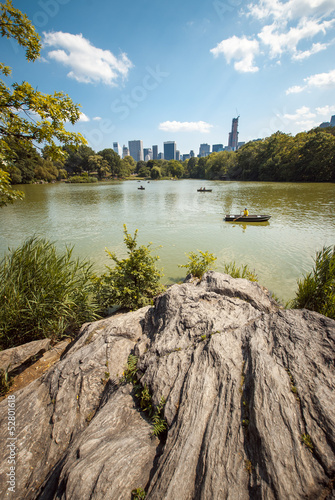 NYC Central Park lake portrait