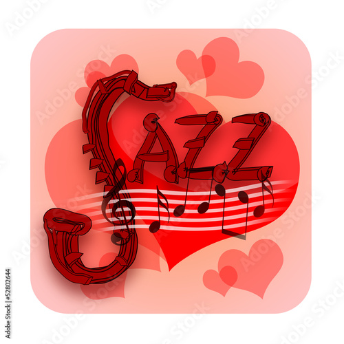 Jazz music and love hearts