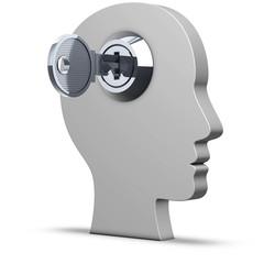Kopf mit Schlüssel