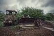 rusted bulldozer