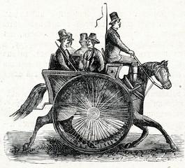 Newfangled american cart (ca. 1890)