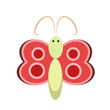 Butterflies vector illustration