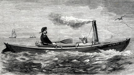 """""""Nina""""-smallest steamboat in the world (Fordham, Bronx)"""