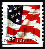 Postage stamp USA 2002 USA Flag