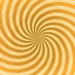 Abstract yellow rays swirl vector background.