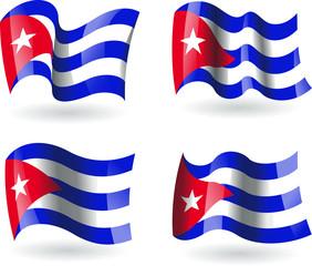 4 bandeiras de Cuba
