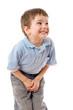Leinwanddruck Bild - Little boy need a pee