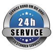 5 Star Button blau 24 H SERVICE SRUDU 24SS