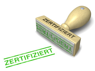 Stempel ZERTIFIZIERT