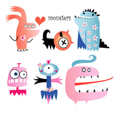 Different funny monsters
