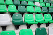 Sport arena seat in green color