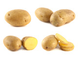 New potato collection isolated on white background