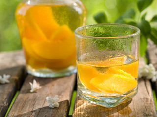 Fruit lemonade or Sangria
