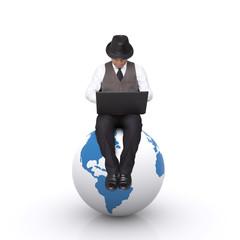 Seat on the globe.