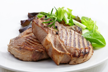 Grilled meat steak