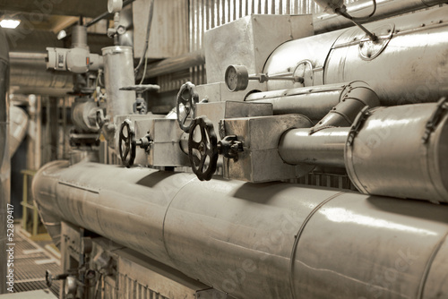 Pipes of a thermal power plant
