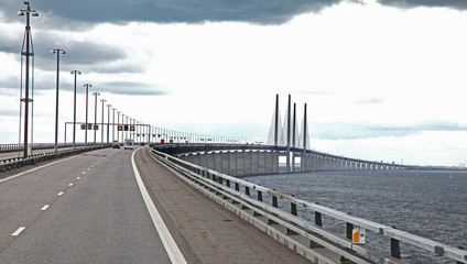 Oresund bridge - longest in Europe (from Sweden to Denmark)