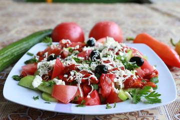 tomato &cucumber salat