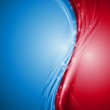 Blue and red abstract vector waves design