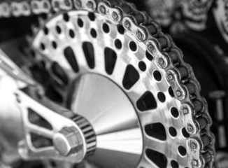 Motorcycle rear chain