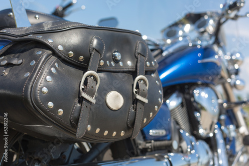 Motorcycle with saddle bag