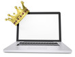 Crown on laptop
