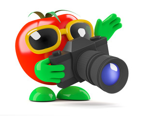 Tomato takes a picture of his friends