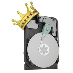 Hard disk drive with the crown