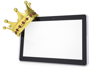 The crown on a tablet PC