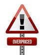 overpriced warning sign illustration design