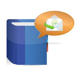 book email message illustration design