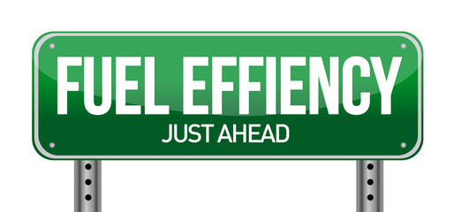 fuel efficiency road sign illustration design