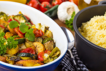 Grillgemüse und Couscous - grilled veggies and couscous