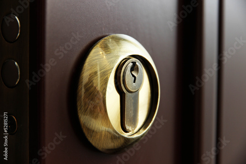 Door lock close-up