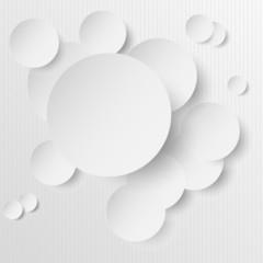Weisse 2D Kreise auf HIntergrund liniert