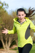 An image of a young girl jogging