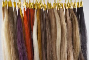 nuancier coiffure, mèches de cheveux